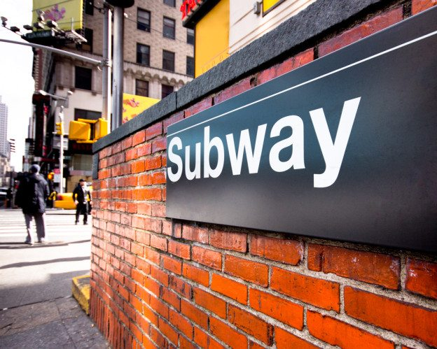 Subway sign in NYC's Brooklyn burough