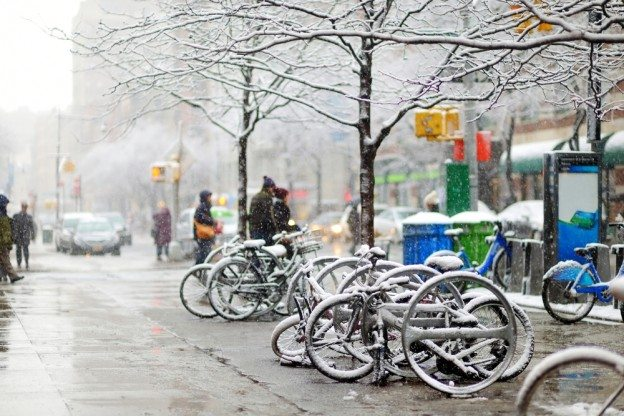 Dangerous winter road conditions in NYC