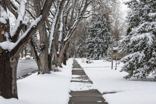 icy sidewalk in nyc
