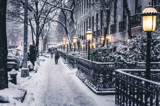 23rd street manhattan ny in the winter