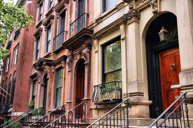 old townhouses in New York City