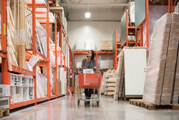 woman shopping at home depot